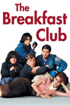 The Breakfast Club: Emilio Estevez, Anthony Michael Hall, Judd Nelson, Molly Ringwald, Ally Sheedy. Emilio Estevez, The Breakfast Club, Breakfast Bake, 80s Movies, Great Movies, Movies To Watch, Awesome Movies, 80s Movie Posters, 1980s Films