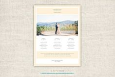 Photography Pricing Guide Template. Wedding Fonts. $19.00