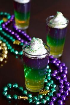 Mardi Gras Jello Shots | Raised on a Roux (scheduled via http://www.tailwindapp.com?utm_source=pinterest&utm_medium=twpin&utm_content=post870451&utm_campaign=scheduler_attribution)