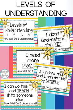 Autism Resources, School Resources, Teacher Resources, Classroom Community, Special Education Classroom, Elementary Teacher, Elementary Education, Learning Support, Levels Of Understanding