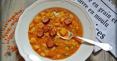 Rote Linsen, Linsensuppe, Kabanossi, Suppe, Kartoffeln, Eintopf