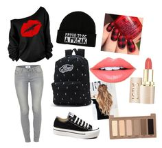 casual chic by angela-g-fuentes on Polyvore featuring moda, Paige Denim, Converse, Vans, Urban Decay and Fiebiger