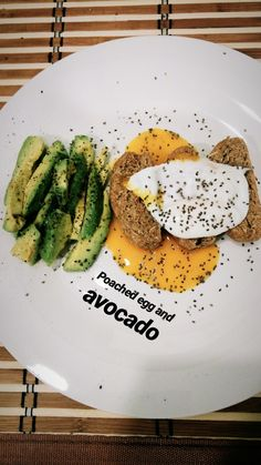 Poached egg and avocado for breakfast   #healthy #healthybreakfast #healthyfood #avocado #eggs