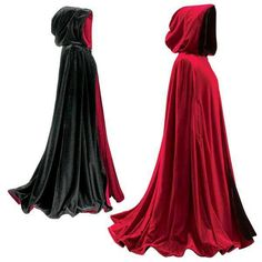black and red reversible capes