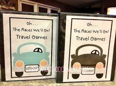 Road Trip Activities Binder