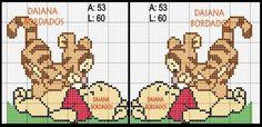 Cross Stitch Needles, Cross Stitch Charts, Cross Stitch Patterns, Disney Stitch, Cross Stitching, Cross Stitch Embroidery, Winne The Pooh, Cross Stitch Fairy, Plastic Canvas Patterns