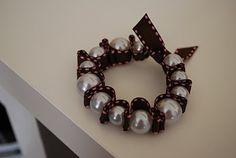 ribbon and pearl bracelet