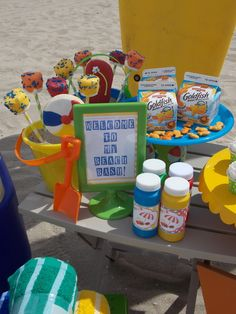 "Photo 8 of 11: Beach Party / Summer ""Toddler-friendly beach bash!"" 