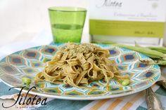 Piatto di Fettuccine al basilico Filotea