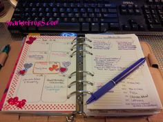 Sparkle Frogs: Free Planner Weekly and Daily Planner Inserts for Compact FC / Personal FF