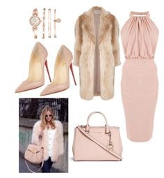 """""""Pastels n Things..."""" by vernesta ❤ liked on Polyvore featuring Christian Louboutin, Michael Kors, Anne Klein and River Island"""