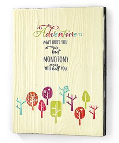 Love this 'Adventure' Wall Sign by Jozie B on #zulily! #zulilyfinds