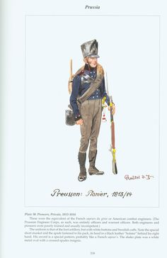 Prussia: Plate 50. Pioneers, Private, 1813-1814