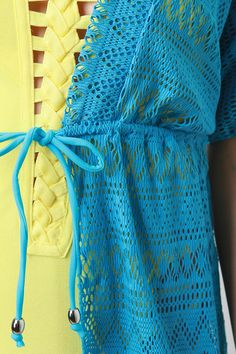 Mesh Lace Pattern Cover Up
