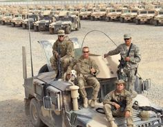 American Soldiers (and a really cute stray dog they adopted)