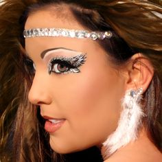 Image detail for -Angelic Glitter Eyes & HALO Rhinestone Angel Costume Makeup Xotic Eyes ...
