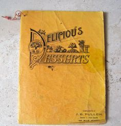 Antique Booklet Dr Prices Excellent Recipes for by cynthiasattic, $25.00