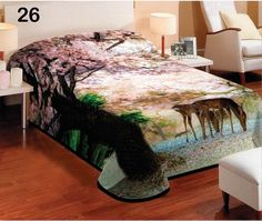 Béžová deka na posteľ s motívom sŕn pod rozkvitnutou čerešňou New Homes, Inspiration, Furniture, Home Decor, Biblical Inspiration, Decoration Home, Room Decor, Home Furnishings, Home Interior Design