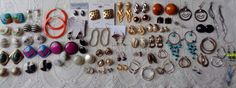 Mixed Lot Vintage Earrings Monet Alice Wire Clip Post Hoops Nice Collection #MixedLot #MixedLot