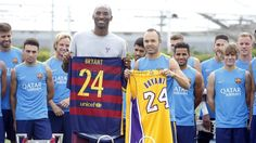 Kobe Bryant with Barça #FCBarcelona #FansFCB #Football #FCB #TourFCB #KobeBryant #Lakers #NBA