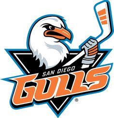 The San Diego Gulls are an American Hockey League team beginning play in the season. The San Diego Gulls are affiliated with NHL Anaheim Ducks, and play their home games at the Valley View Casino Center. Hockey Logos, Sports Team Logos, Sports Teams, San Diego, Hockey News, Hockey Stuff, American Hockey League, Nhl Season, Pets