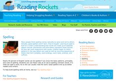 This module on Reading Rockets provides a vast array of resources in one spot. This online resource develops a solid understanding of spelling and how to promote spelling skills and provides links to many research articles related to spelling and word study. I particularly like that it includes information for both parents and teachers, which can facilitate a home-school partnership supporting literacy development.