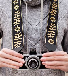 Floral Camera Strap | DIY Mother's Day Gift | Crafts with Cricut | Camera Accessories