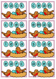 Hands-on CVCe word work - long vowel sounds, magic e Cvce Words, Nonsense Words, Sight Word Practice, Sight Word Games, Long Vowels, Vowel Sounds, English Language Arts, Easter Activities, Play To Learn