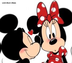 Minnie Mouse Images, Mickey Mouse Art, Mickey Mouse Wallpaper, Cute Disney Wallpaper, Mickey Mouse And Friends, Mini Y Mickey, Mickey And Minnie Kissing, Disney Images, Disney Pictures