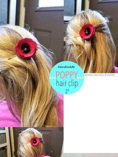 2 Orange Satin Fabric Handmade Hair Pins Baby Snap Clips Shoe Clips