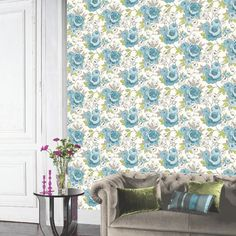 Arthouse Cassi Wallpaper in Teal  - http://godecorating.co.uk/arthouse-cassi-wallpaper-teal/