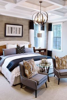 Transitional Bedroom Ideas - We have included so many bedroom layouts already and for certain, you still such as to see even more because we never obtain enough of bedroom interior decoration ideas that . Master Bedroom Interior, Farmhouse Master Bedroom, Home Interior, Home Decor Bedroom, Modern Bedroom, Interior Design, Bedroom Ideas, Bedroom Designs, Master Bedrooms