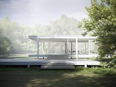 Farnsworth House front steps. Loved the simplicity and clean lines of Farnsworth forever.