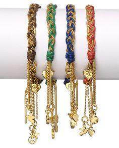 Good Charma Gold Woven bracelets