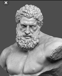 World of Statues Zeus Tattoo, Statue Tattoo, Ancient Greek Sculpture, Greek Statues, Ancient Art, Zeus Statue, Hercules Statue, Illustrations Poster, Greek Mythology Art