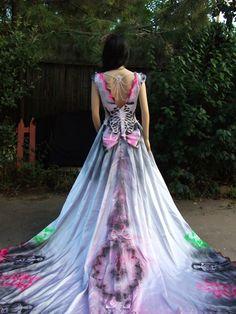 Dia de los muertos on pinterest day of the dead dia de for Sugar skull wedding dress