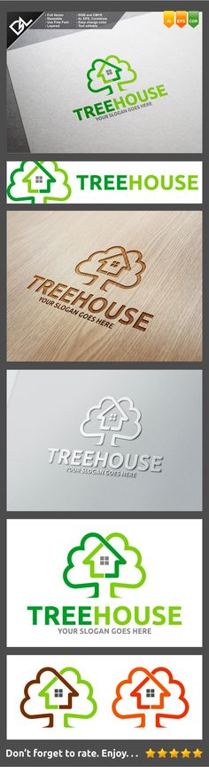 Tree House Logo Template on Behance