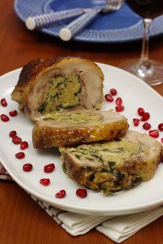 Cinco Quartos de Laranja: Vamos preparar o Natal: Perna de peru recheada com alheira e broa