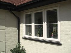 uPVC Windows in Surrey, Hampshire & Berkshire Aluminium Windows And Doors, Upvc Windows, Bay Windows, Kerb Appeal, Property Design, Glass Partition, Window Ideas, House Front, Front Doors