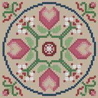 The Floss Box | Biscornu 301 Pdf pattern