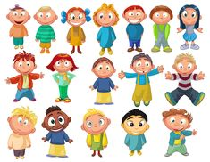 Cartoon Children, Kids, People 10 Vector EPS Free Download, Logo, Icons, Brand Emblems