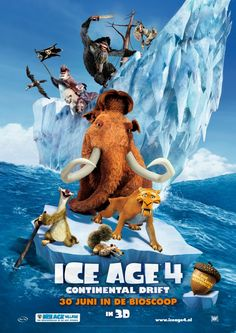 Ice Age: Continental Drift is an upcoming 2012 American film directed by Steve Martino and Mike Thurmeier. This will be the first Ice Age film to be shot in the aspect ratio. world-movie-posters Ice Age Movies, Hd Movies, Movies Online, Horror Movies, Romance Movies, Comic Movies, Action Movies, Animation Movies, Dinosaurs