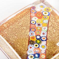 Murano glass paperweight with geometric Murrina decoration #yourmurano #paperweight #shopping