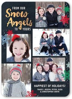 Our Snow Angels Stationery Card by jillgo. Send a holiday card friends and family will love. Holiday Photo Cards, Christmas Greeting Cards, Christmas Greetings, Snow Angels, Shutterfly, Family Photos, Are You Happy, Stationery, Sparkle