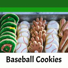 Graduation Discover Baseball Cookies Make these simple baseball cookies and celebrate your favorite team! Start with a basic sugar cookie cut shapes and then decorate with royal icing and food safe pens. So easy and fun! Baseball Birthday, Baseball Party, Baseball Mom, Apple Recipes For Canning, Cookie Decorating Icing, Graduation Desserts, Baseball Cookies, Easy No Bake Cheesecake, Royal Icing Decorations
