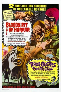 Bloody Pit of Horror & Terror Creatures from the Grave (Double Bill)