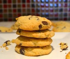 I love, love, love homemade chocolate chip cookies. The smell coming out of the oven and enjoying the cookies while they are still warm and the chocolate chips are melting in your mouth.........co...