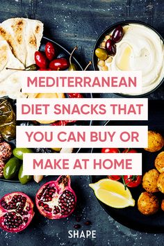 These snacks will become your staples—whether you're trying the Mediterranean diet or just want to steal some ideas from the healthy eating style. #mediterraneandiet #healthysnacks Healthy Snack Options, Healthy Fats, Healthy Snacks, Healthy Eating, Diet Snacks, Yummy Snacks, Protein Rich Breakfast, Easy Hummus Recipe, Mediterranean Diet Meal Plan