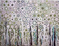See these pictures of landscape art quilts for inspiration for your next quilting project. These quilts mix patchwork and applique. One Block Wonder, Quilting Projects, Quilting Designs, Landscape Art Quilts, Kaleidoscope Quilt, Beads Pictures, Hexagon Quilt, Textiles, Diy Arts And Crafts