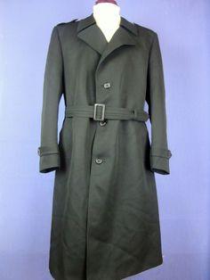 C&A black WOVEN-TEX trench mac coat overcoat XLARGE cj118    eBay